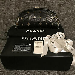 USED super rare beautiful goods Chanel Coco Mark clutch bag free shipping Japan
