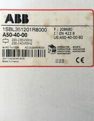1pc New For Abb A50-40-00 220v Contactor Free Shipping