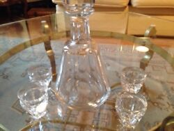 1960s Baccarat Talleyrand Pattern 8 Andnbsp11 Liquor And Porto Glasses Plus The Carafe