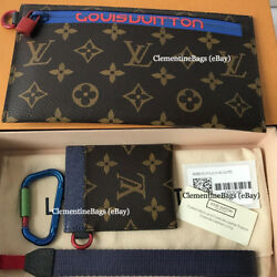 Louis Vuitton 2018 Monogram Outdoor Ribbon Pouch Wristlet Pacific Supreme