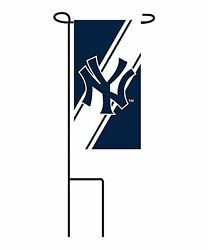 New York Yankees Mini Yard Flag 24-pack W/stands Garden Outdoor Party Banner