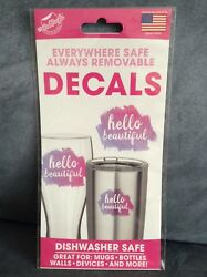 THE PEEL PEOPLE REMOVABLE DECALS READ HELLO BEAUTIFUL