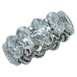 12.07 Carat Oval Cut Diamond Eternity Wedding Band
