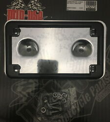 Touring Laydown Layback License Plate Bracket W/black Frame Kit 99-08 Hd Touring