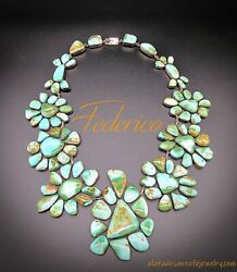 FEDERICO JIMENEZ ~Over the Top~Gem Grade Royston Turquoise~925 HUGE Necklace