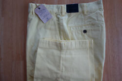 Nwot Brooks Brothers Clark Fit Yellow Garment Washed Chinos 32-34 Msrp 98.50