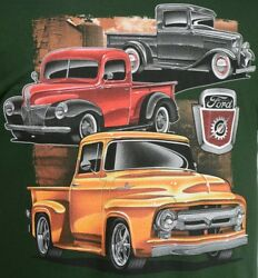 32-34 40-41 And 53 Ford Pickup Truck T-shirt - 100 Cotton Preshrunk Green
