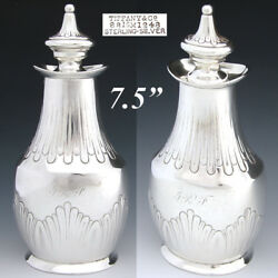 Antique And Co. Sterling Silver 7.5 Tea Caddy Or Decanter, C. 1873-1891