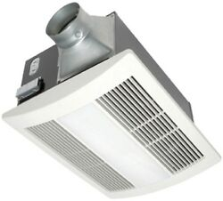 NEW Bathroom Fan Integrated Heater and Light White 0.7-Sone 110-CFM ENERGY STAR