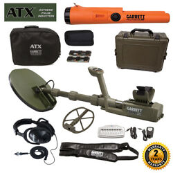 Garrett Atx Deepseeker Metal Detector With 2 Coils And Pro-pointer At Pinpointer