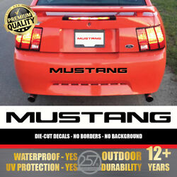 Piano Black FORD MUSTANG Bumper Letters Vinyl Decal Insert Sticker 1999 2004