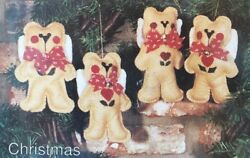 NEW Vintage Bernat Angel Bear Felt Kit Ornaments Stephanies Collection Christmas