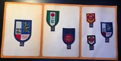 Emblem Patch Tokyo 1964. Year Olympic Games Lot Of 6 Pieces Japan