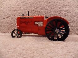 Rare Custom 1/16 Scale Diecast Allis-chalmers Tractor With Steel Wheels