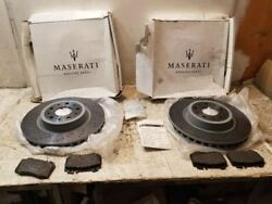 2009 MASARATI GRANTURISMO BRAND NEW REAR ROTORS WITH BRAKE PADS LEFT AND RIGHT F