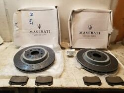2009 MASARATI GRANTURISMO BRAND NEW FRONT ROTORS WITH BRAKE PADS LEFT AND RIGHT