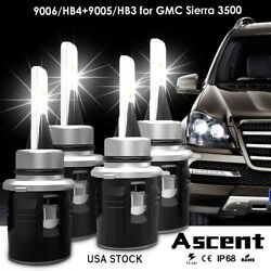4x 9005 HB3 9006 HB4 High Power Led Headlight Kit Bulbs For GMC Sierra 3500 1999