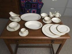 Lenox Mansfield China 8 Complete Settings Plus Added Pieces. Total 90 Pieces
