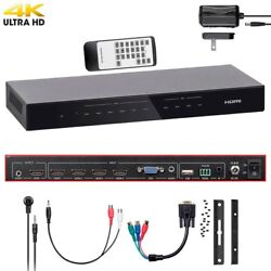 HDMI 5x1 Switch Switcher 4K60Hz VGA Analog Audio Component YPbPr Composite CVBS