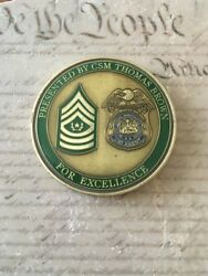 22nd Military Police Mp Battalion Cid Csm Thomas Brown Challenge Coin