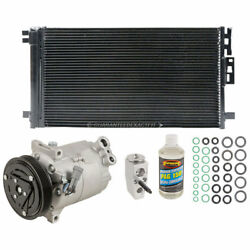 For Saturn Pontiac New AC Compressor & Clutch With Complete AC Repair Kit