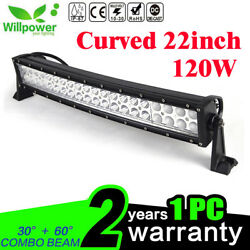 22/24inch 120w Curved Led Work Light Bar For Ute Suv Atv Offroad Truck Jeep Ford