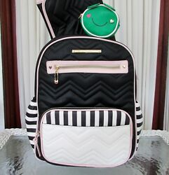 Betsey Johnson Diaper Backpack School Travel Bag Large 3 pc Set NWT $158