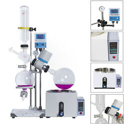 1L-5L 0-120rpm 0-99℃ New Lab Rotary Evaporator wMotor Lift Digital Heating Bath