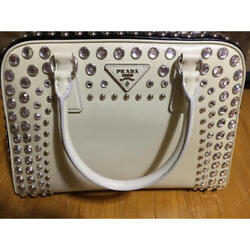 USED PRADA Clutch type Boston free shipping Japan Very popular Famous ladies