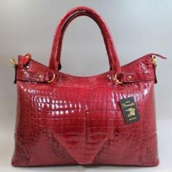 USED Crocodile Bag Women's Shining 1 point limited sale free shipping Japan