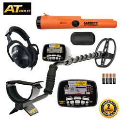 Garrett At Gold Waterproof Metal Detector With Ms-2 Headphones And Propointer At