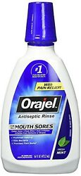 (3PK) Orajel Antiseptic Mouth Sore Rinse 16oz 310310324995YN