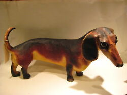 Paper Mache Life Size Sculpture Duchshund Listed Artist Lindee Climo