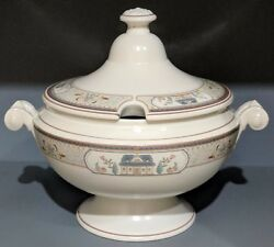 Mikasa Country Lane Tureen With Lid Ducks Fruit Pears House Flower Design Japan