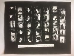 Basquiat Photo Contact Sheet shot in 1979 made 2017 withby Nicholas Taylor rare