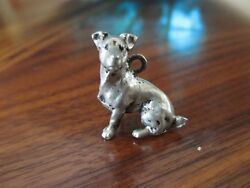 Pewter Jack Russell Terrier Charm  pendant