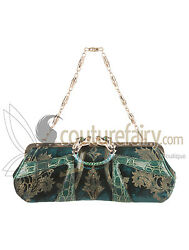 COLLECTOR'S GUCCI TOM FORD FW 2004 DRAGON PEARL JEWELED VELVET CROCODILE BAG
