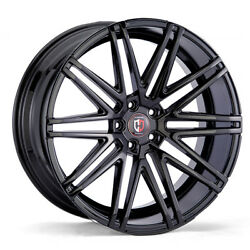 20x10.5 5x108 CURVA C48 GLOSS BLACK MADE FOR FORD JAGUAR VOLVO