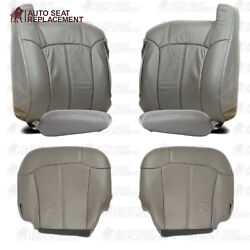 99 2000 2001 2002 Chevy Tahoe Suburban Silverado Leather Seat Cover Package Gray