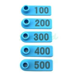Blue Ear Tag Plastic Livestock Tag For Goat Sheep Pig Cow Number 1-500