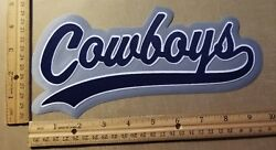 Huge Dallas Cowboys Iron-on Patch - 5 X 9.5