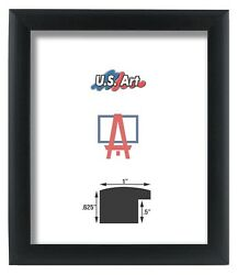 Us Art Frames 1 Black Nugget Contemporary Mdf Wood Picture Poster Frames S-a