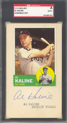Al Kaline Autographed Signed Card Post Marked 1963 Topps 25 Sgc Authentic 521