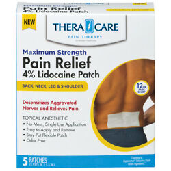 Theracare Lidocaine 4 Pain Relief Patch 5ct Pack Of 3