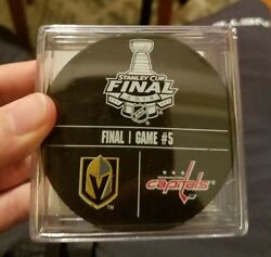 Game Used Stanley Cup Final Clincher Warm Up Puck Game 5