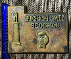 Boxing Federation Of Belgrade Plaque Table Medal Boxing Sport Serbia