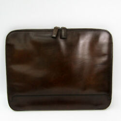 Berluti Men's Leather Document CaseClutch Bag Brown BF323221