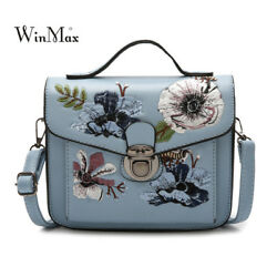 2018 New Fashion Women Small Bags Leather Shoulder Bag For Girls Embroidery