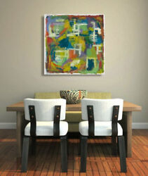 Hand Painted Wall Decor,abstract Painting ,acrylic Canvas By The Waymodern Art