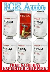 5 Cans R-1234yf Refrigerant Honeywell 8 Oz Solsticeandreg Yf 5 And Can Tap Dupont